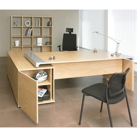 bureau bois acier bureau de direction sur console bois et acier miami