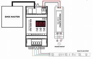 rgb rgbw dmx led controller With wiring led strip lights uk