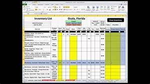 Shopping List - Excel Spreadsheet