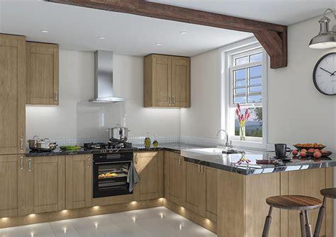 Shaker Oak Kitchen Cabinets by Shaker Lissa Oak Kitchen Doors Made To Measure From 163 3 29