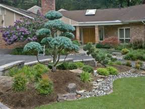 front entrance landscape design and hardscape by s