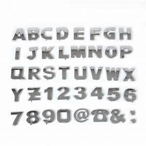 3d diy metallic alphabet letter number symbol emblem badge With metallic letter stickers