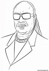 Coloring Wonder Stevie Pages Celebrity Printable History Drawing Famous Month American African Categories Info sketch template