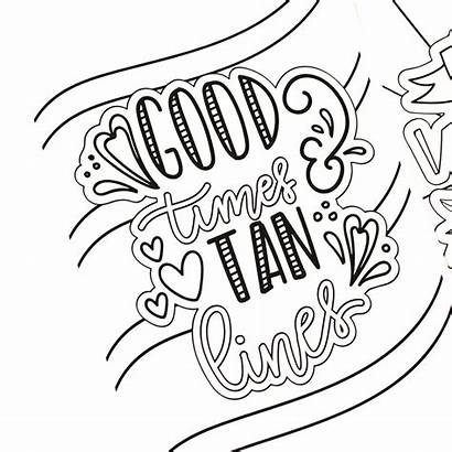 Coloring Summer Fun Pages Printable Hand Adults