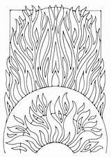 Coloring Fire Pages Adult Printable Edupics Mandala Palmer Dandi Colouring Print Vuur Sheets Visit Detailed Drawing sketch template