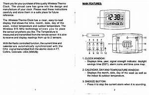 Sharp Atomic Clock User Manual