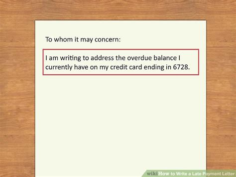 write  late payment letter  steps  pictures
