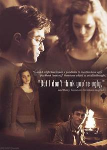 I love when Hermione tries to give Harry advice on his ...