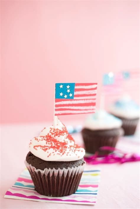 american flag cupcake toppers diy