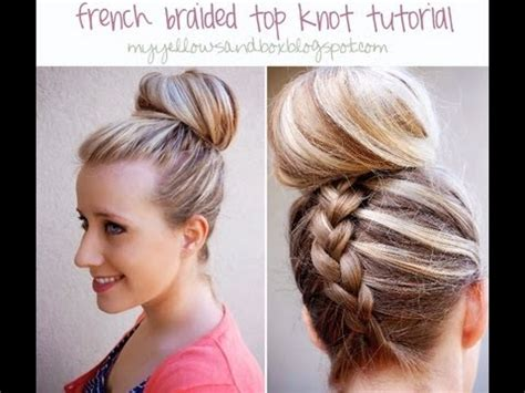 french braided top knot dutch braided top knot youtube