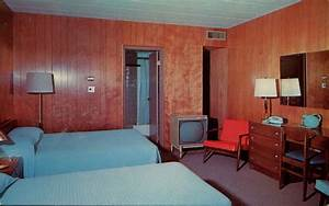 Postcards, Of, Mid-century, Motel, Rooms, With, Style
