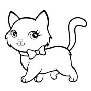 gato  colorear pintar  imprimir