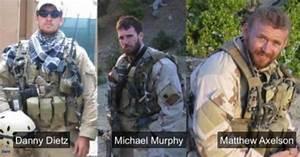Danny Dietz Jr. Matthew Axelson Michael Murphy US Navy ...