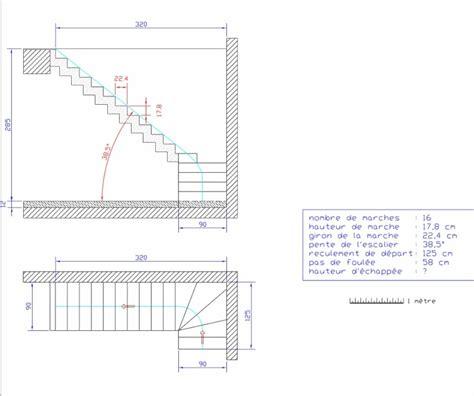 plan ferraillage escalier beton quantit 233 de b 233 ton pour mon escalier 7 messages