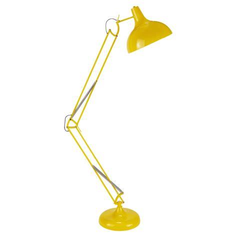 lampadaire orientable en metal jaune   cm disco maisons du monde