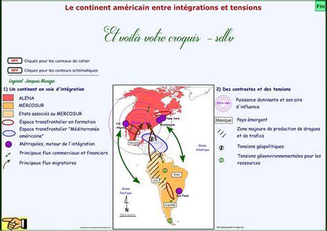 Carte Du Monde Continent Americain by Le Continent Am 233 Ricain Entre Int 233 Grations Et Tensions Clio