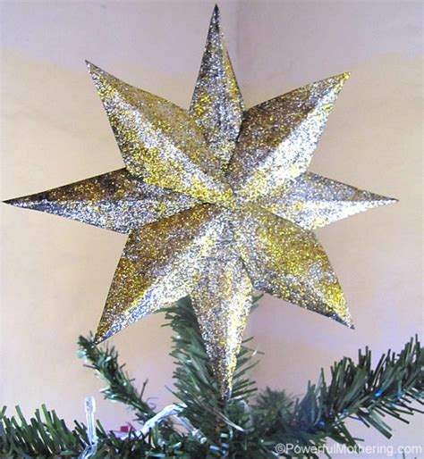 diy glitter star tree topper