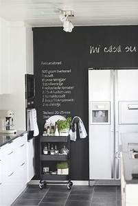 25 black and white kitchens chalk wall paint walls and With kitchen colors with white cabinets with 3d wall art decals