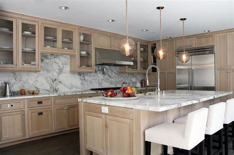 light tan kitchen cabinets beautiful kitchen features wire brushed oak cabinets