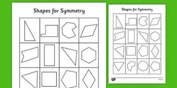 shapes  symmetry worksheet symmetry   shapes