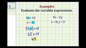 Examples Part 1  Evaluating Variable Expressions