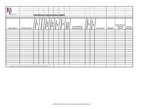 Referral/prospect Tracking Spreadsheet