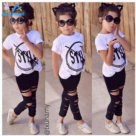 Aliexpress.com  Buy 2016 New Fashion Kids Girls Clothes Set Little Girl Summer Short Sleeve T ...