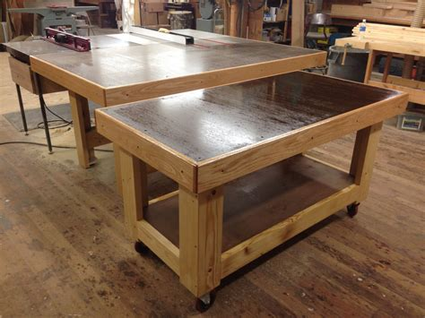 outfeedassembly tableworkbench setup woodworking