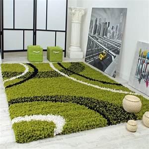 Teppich Grün Weiß : shaggy teppich hochflor langflor gemustert in gr n schwarz weiss ~ Indierocktalk.com Haus und Dekorationen