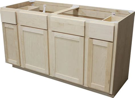 60 kitchen sink base cabinet quality one 60 quot x 34 1 2 quot unfinished maple sink base 7369