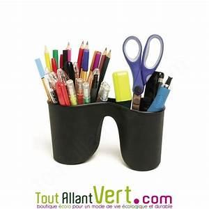 Pot A Crayon : grand pot crayons double capacit en plastique recycl noir rexel ~ Teatrodelosmanantiales.com Idées de Décoration