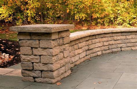 column caps coping pavers retaining walls niemeyer