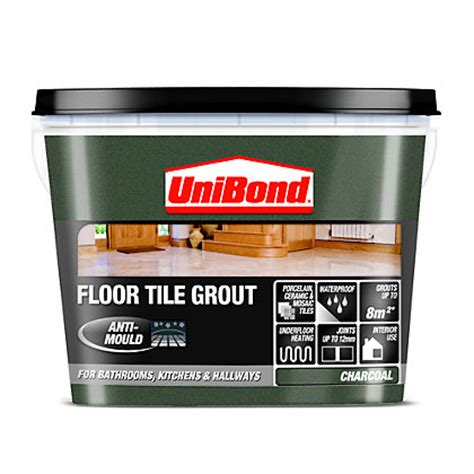 charcoal gray grout unibond ready mixed floor grout charcoal grey 3 75kg