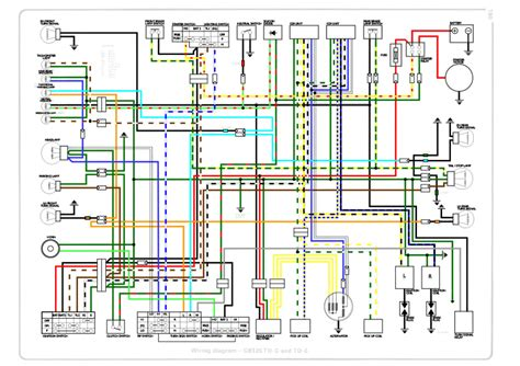 honda cb125tde superdream colour wiring diagram