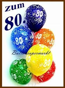 Besinnliches Zum 80 Geburtstag : zum 80 geburtstag 100 luftballons mit helium inkl versand und abholung geburtstag 80 ~ Frokenaadalensverden.com Haus und Dekorationen