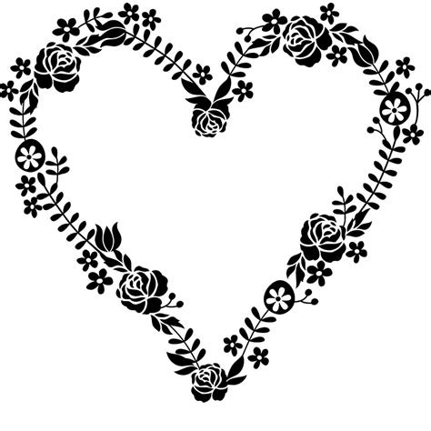 floral wreath heart shaped stamp heart stamps stamptopia