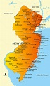 Map of New Jersey - Guide of the World