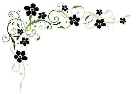 Blumenranke Grün Horizontal by Black Flower With Floral Decor Vector Free
