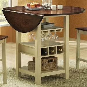 Countertop, Height, Table, With, Drop, Leaf