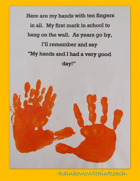 first day of school crafts for preschool www rainbowswithinreach 105