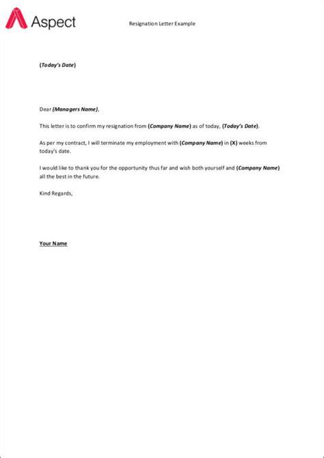 small resignation letter templatedosecom