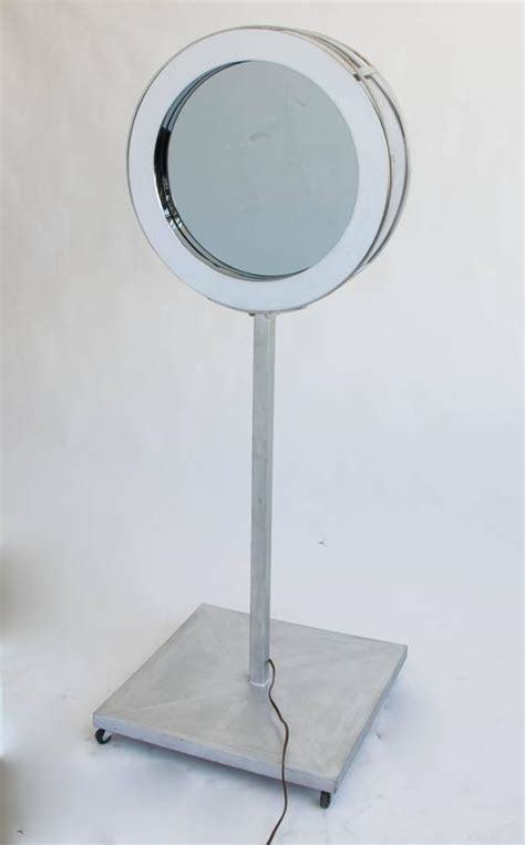 floor mirror mount curtis jer 233 infinity mirror with floor mount for sale at 1stdibs