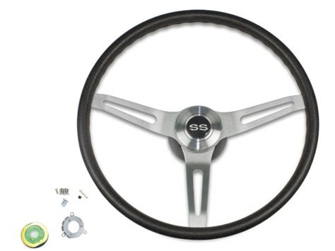 chevelle black comfort grip steering wheel kit