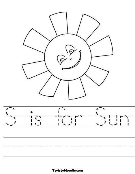 S is for Sun Worksheet | Preschool worksheets ...