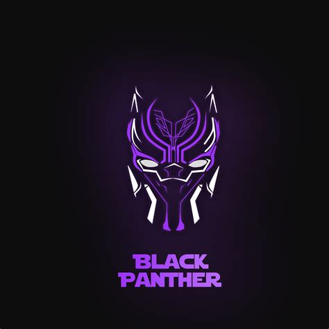 wallpaper black panther purple dark background minimal