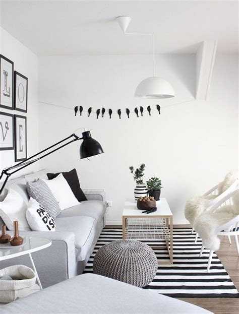 canape cuir noir salon scandinave 38 idées inspirations diaporama
