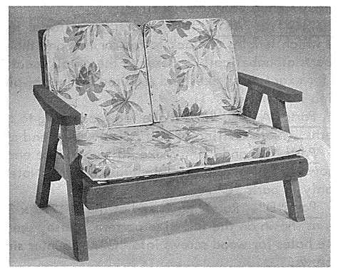 comfortable redwood  seater vintage woodworking plan