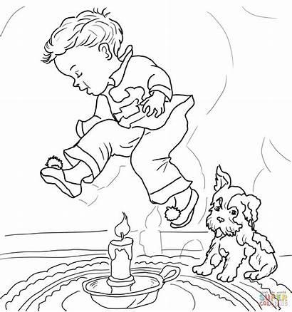 Nursery Coloring Rhymes Goose Jack Nimble Mother