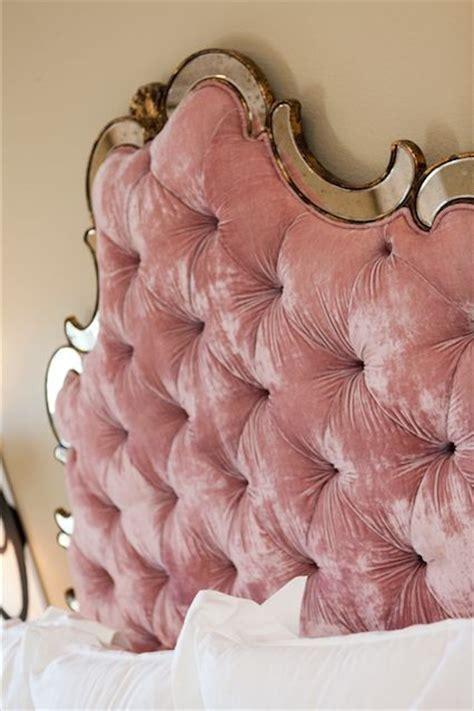 pink velvet headboard 2016 velvet trend in interior design 24 photos messagenote