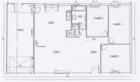 plan maison 90m2 3 chambres plan maison cubique cool maison cubique terrain troit with